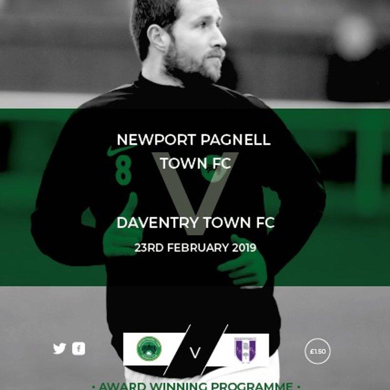 Swans vs Daventry Town - ChromaSport UCL Premier Division - Sat 23rd Feb  - KO 3pm
