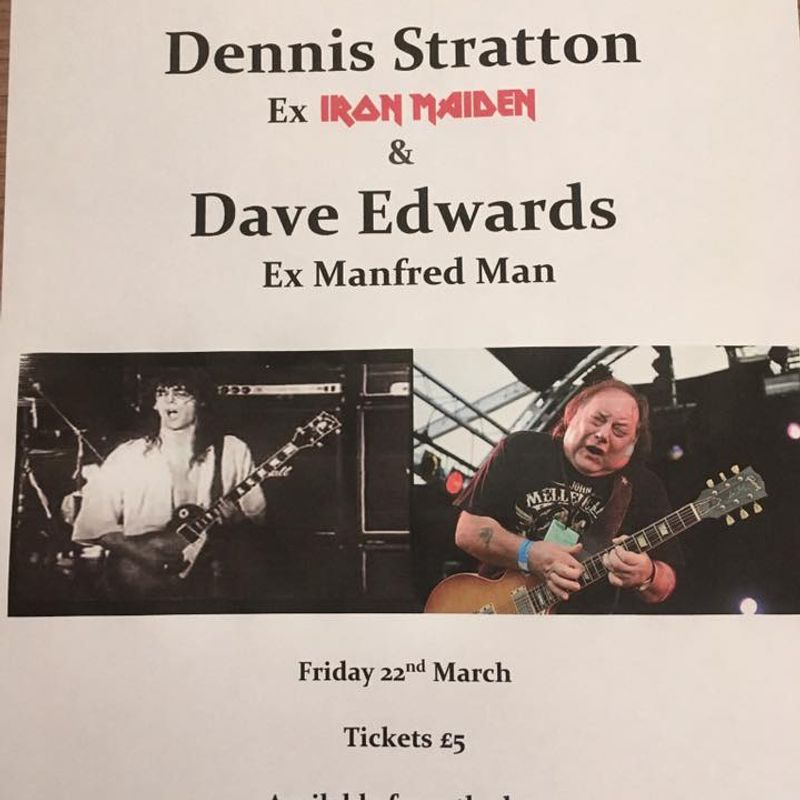 Friday 22nd March - Rock Night with Dennis Stratton & Dave Edwards at NPTFC !