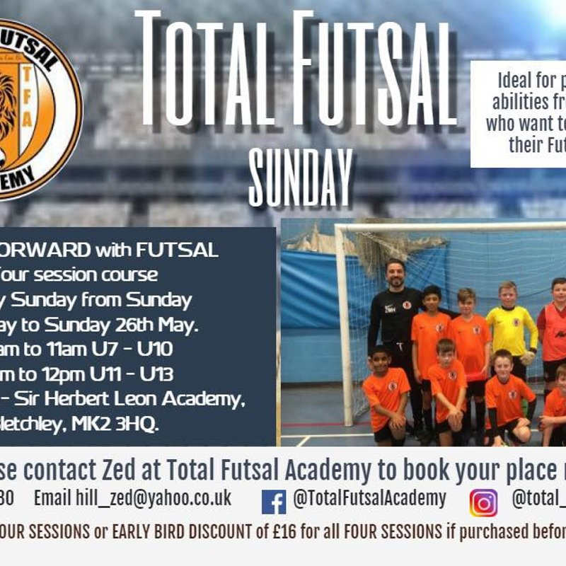 Total Futsal Every Sunday at Sir Herbert Academy