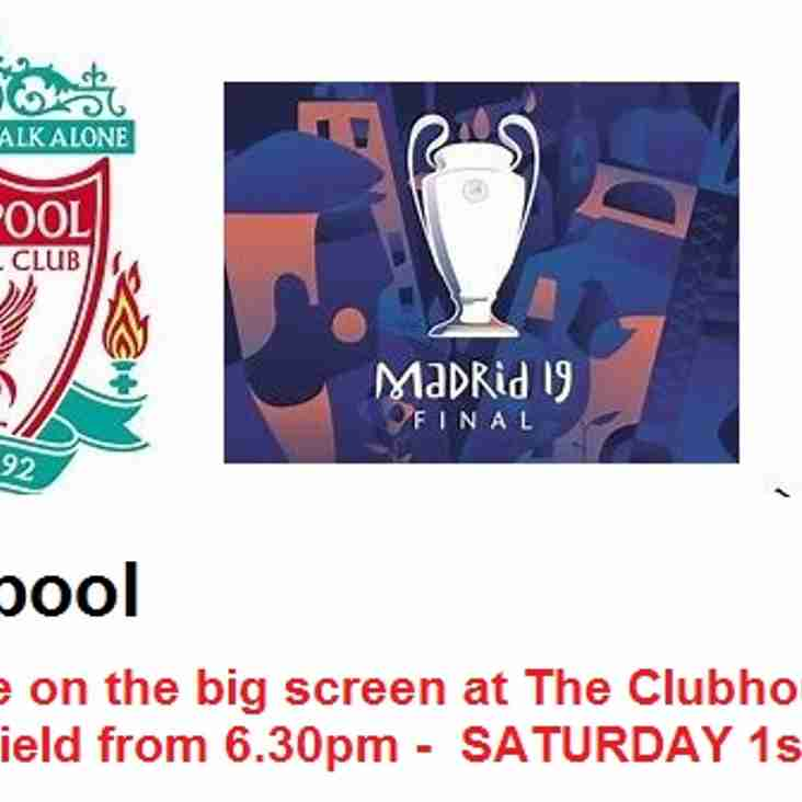 Liverpool v Spurs live on the big screen from 6.30pm