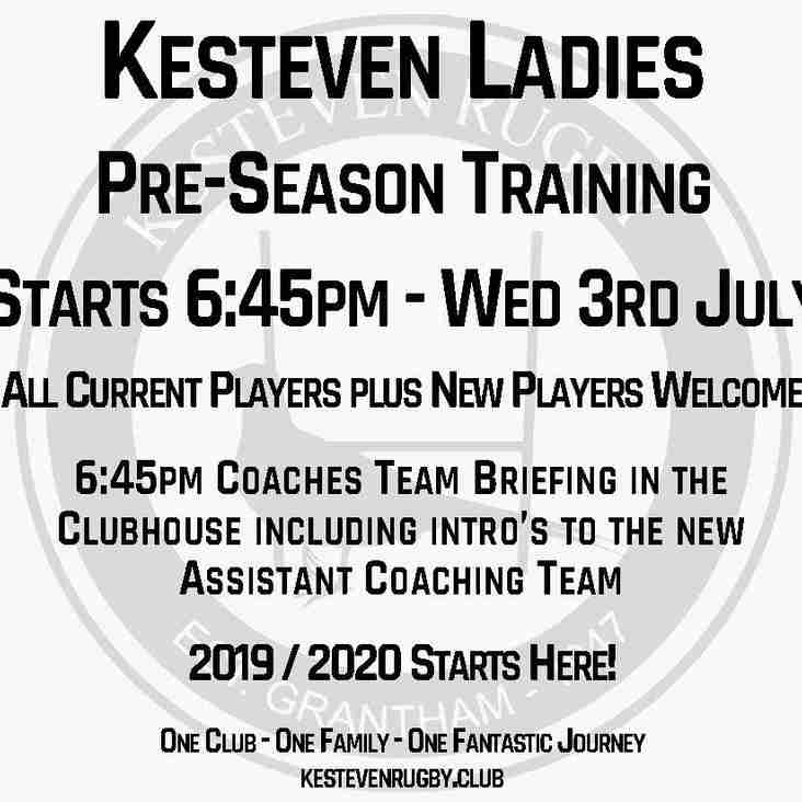 Ladies Pre-Season 2019/2020