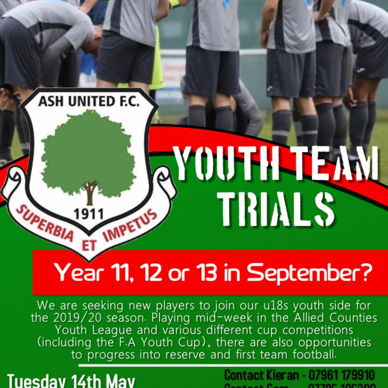 Further trials for potential Under 18 team players