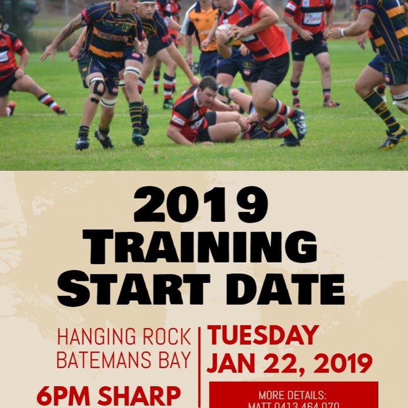 2019 Training Start Date