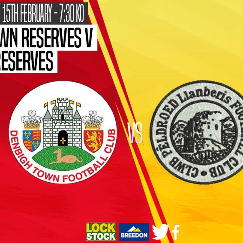 Match Preview : Denbigh Town Reserves v Llanberis Reserves