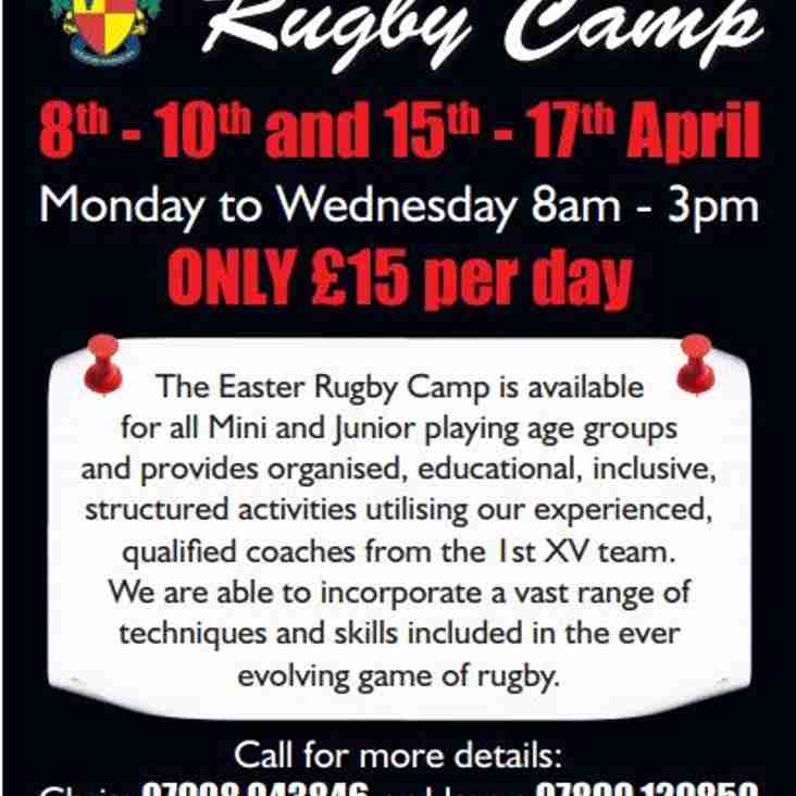 2daa27b1 Easter Rugby Camp - Book your place now