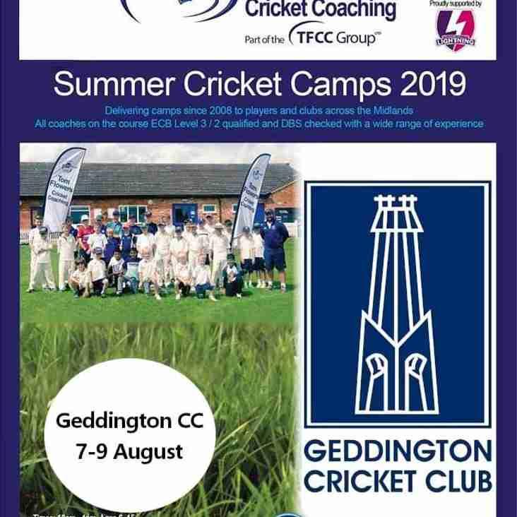 Tom Flowers Cricket Coaching Summer Cricket Camp At Geddington Cricket Club