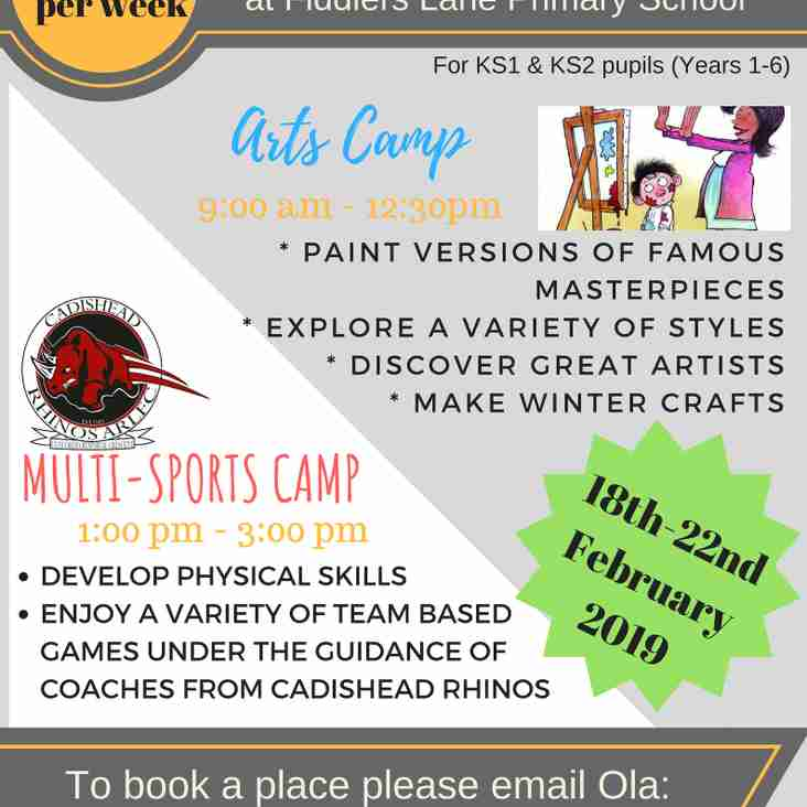 Rhinos holiday camp returns
