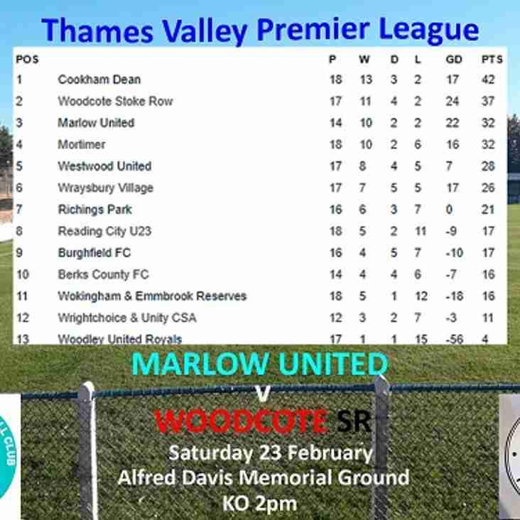 Thames Valley Premier Division - Marlow United v Woodcote
