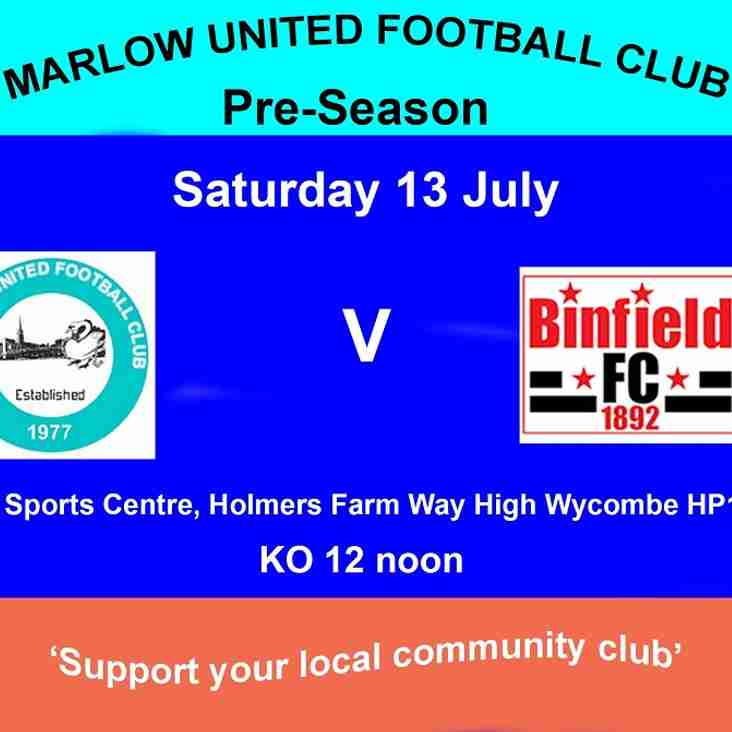 Pre-Season Marlow United v Binfield