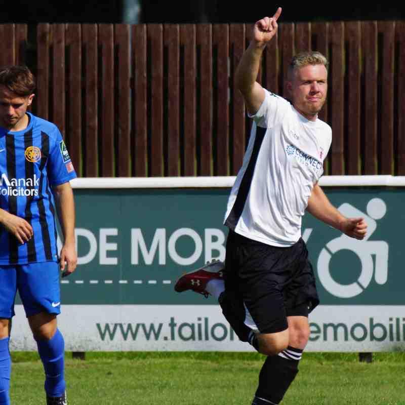 Harry Goodger celebrates his goal
