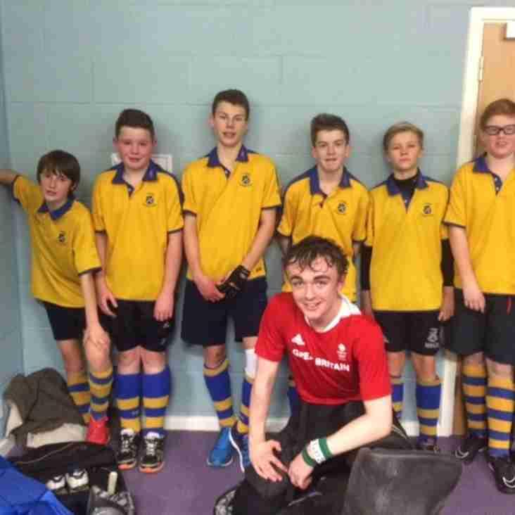 U16 boys  enter EH Indoor Competition.