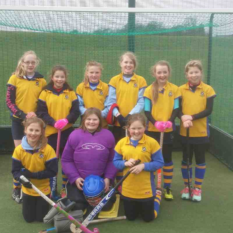 U12 A team: Back L to R: Jamie Irvine, Olivia BORCHARD,  Amy Flintoff,  Penny Baker,  Olivia Turner & Connie Gill.  From row SADIE Bosomworth, Olivia Barber & Izzy Saxby