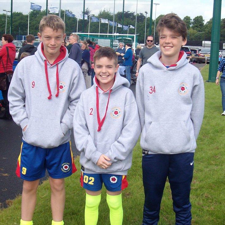 Thirsk U13 boys at NE Championships.<