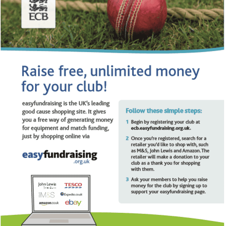 Help raise funds for Leek CC JUST by shopping online