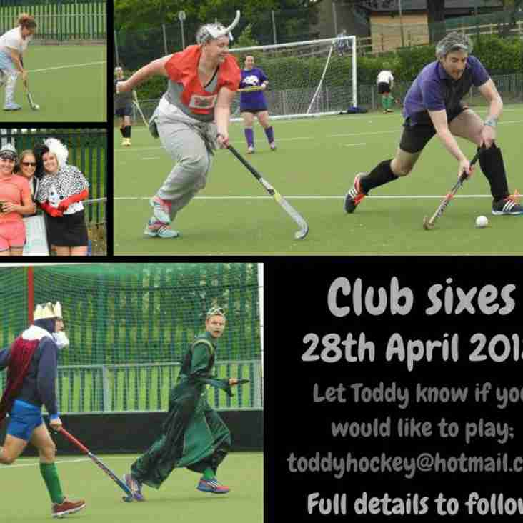 Club Sixes and End of Season Awards Night is nearly here!!