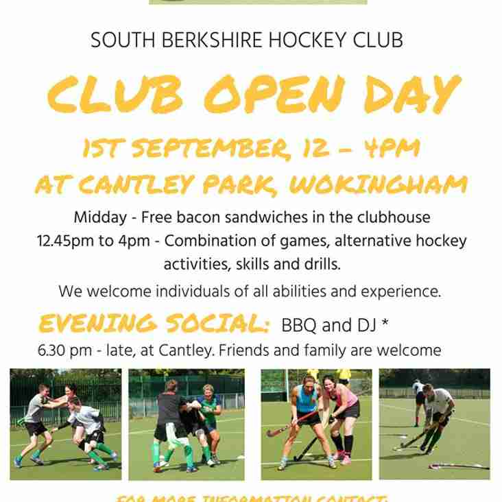Club Open Day 1st September 2018 12-4pm