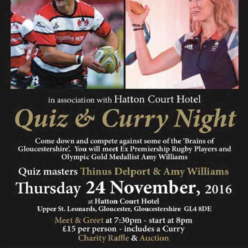 Transition Through Rugby Charity Quiz & Curry Night