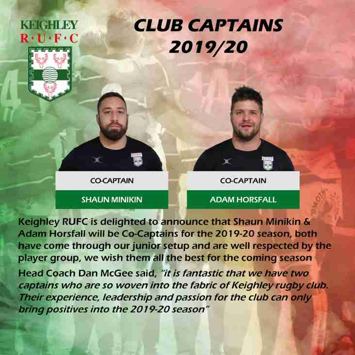 Captain's for 2019/20