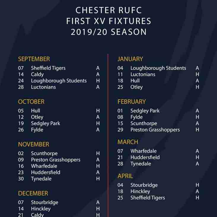 2019/20 Fixtures