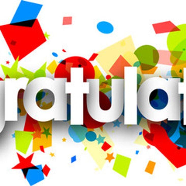 Congratulations <