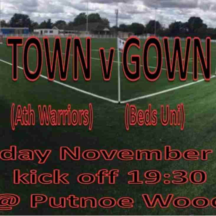 1st Bedford Town v Gown game