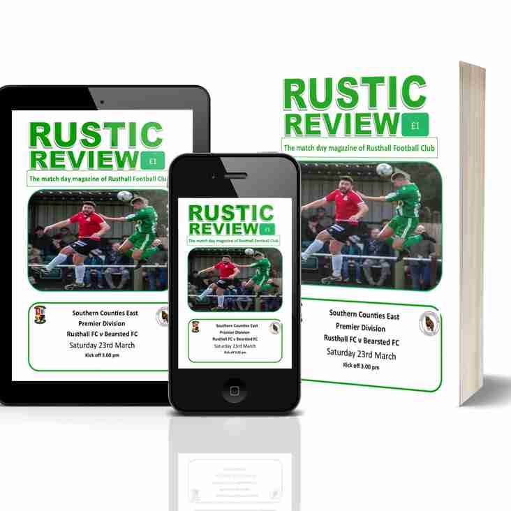 Rusthall vs Bearsted: Match Day Magazine