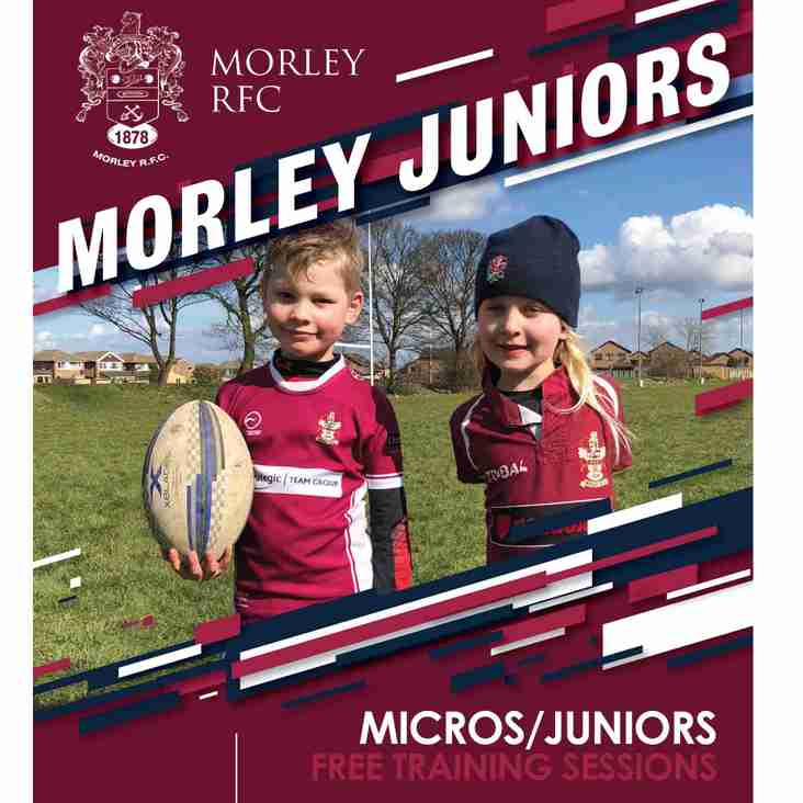 Free Training sessions for Micros and Juniors