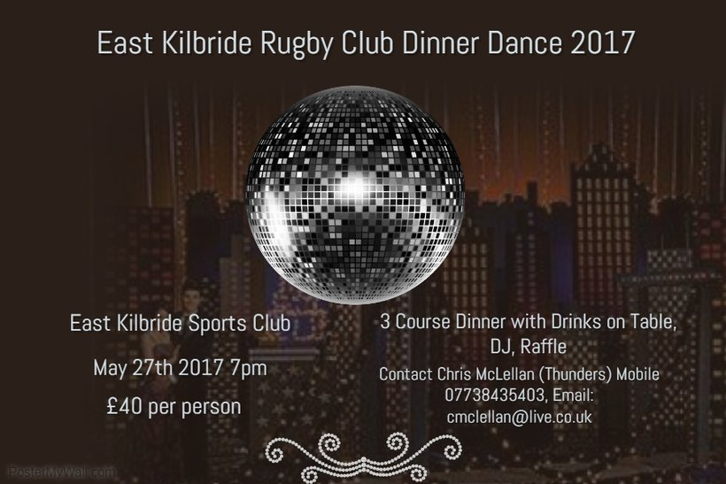 Annual Dinner Dance 27th May - roll up, roll up!! - News - East