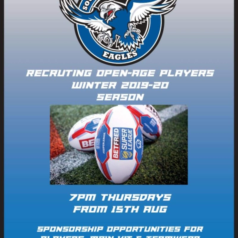 Recruiting players now for winter season