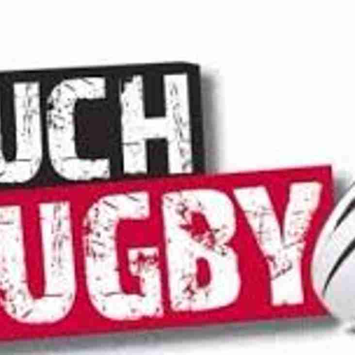 Touch Rugby Tournament  Sunday 11th August  Plus England V Wales Live at 2pm