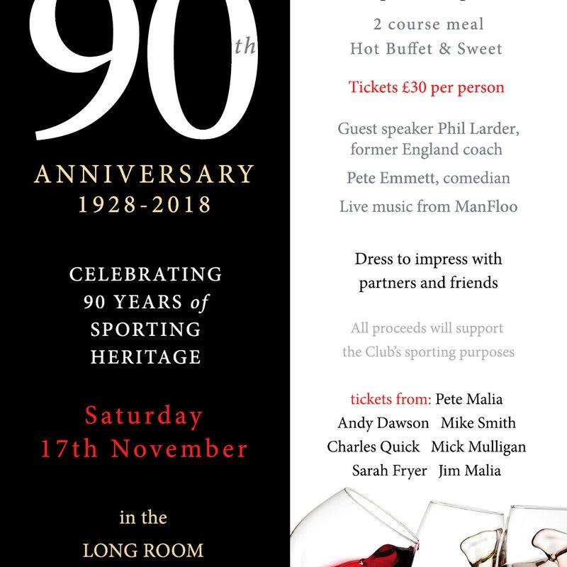 90th Anniversary Dinner