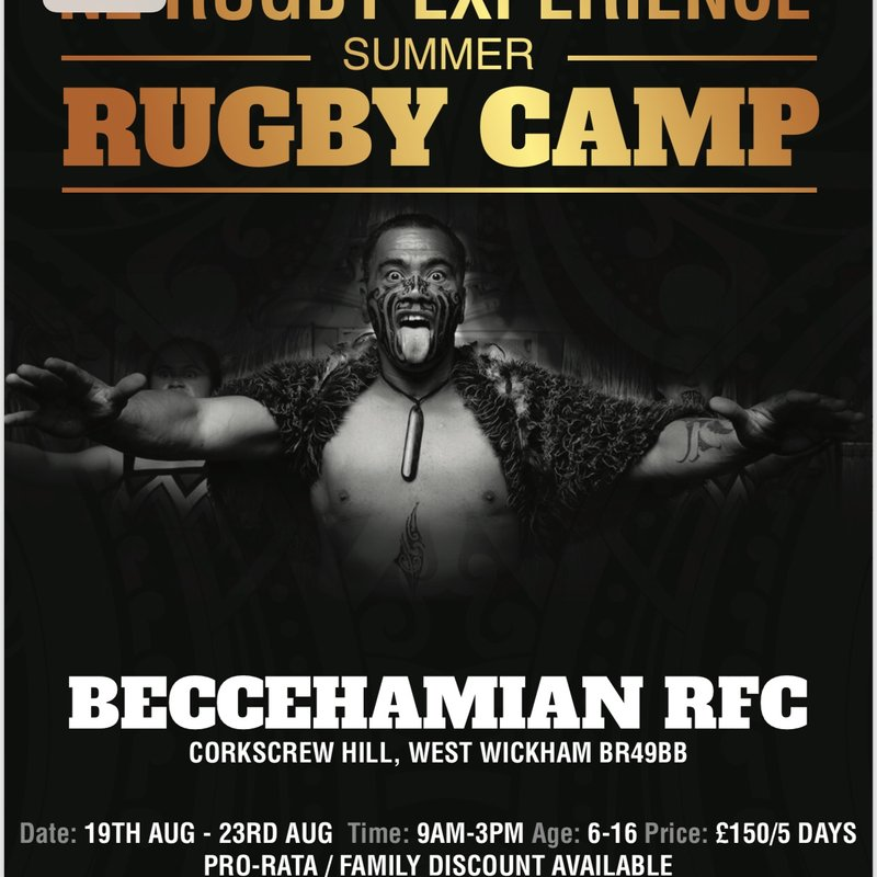 "Beccs host ""NZ Rugby Experience"" Summer Camp August 2019"