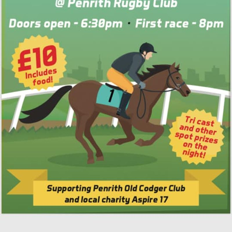 Race Night - Friday 9th August - Penrith Rugby Club - Tickets available online.