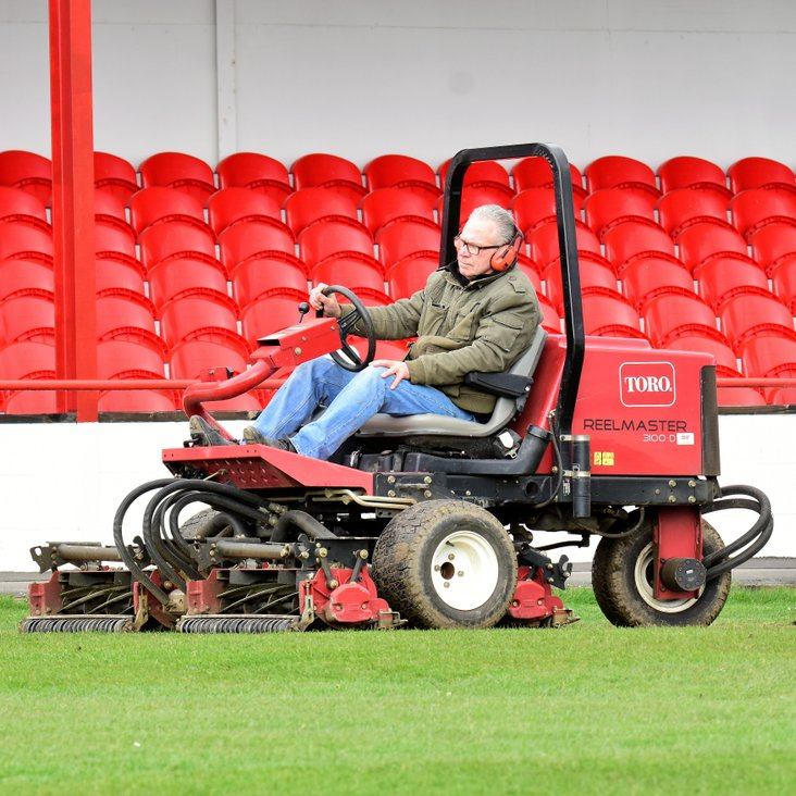 Pitch being prepared for run in<