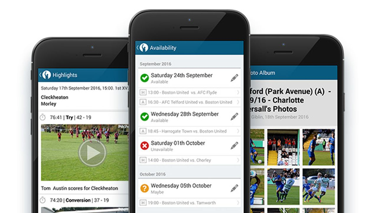 Never miss a beat at your club with the Pitchero app