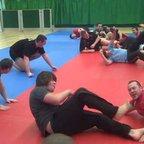 Training in the dojo