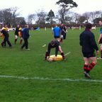 1st XV warm up before their game at Camborne RFC