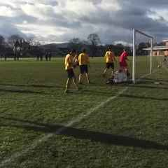 Gaz Williams makes it 3-1 - Gresford Athletic v Brymbo