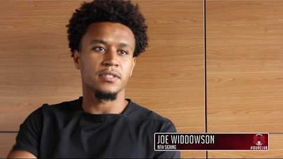SIGNING: Defender Joe Widdowson on completing his move to E10
