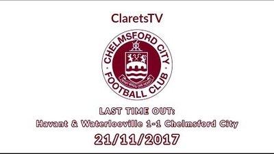 LAST TIME OUT: Havant & Waterlooville 1-1 Chelmsford City - 21/11/2017