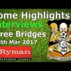 Carshalton Athletic FC vs Three Bridges FC 18.03.2017 - HIGHLIGHTS