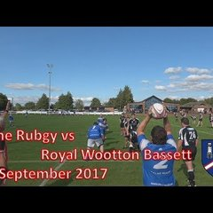 Calne RFC vs Royal Wootton Bassett 02/09/17 Rugby Match