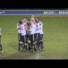0103 2nd Half Molesey v Woking - Surrey Senior Cup Quarter Finals 1-3