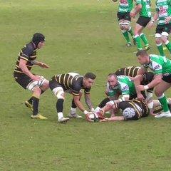 Alex Ducker slices through the Devon defence.