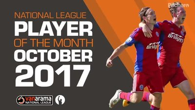 National League Players Of The Month - October 2017