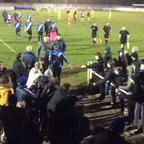 The Townites applaud our Boys off after a dramatic 3-2 semi final win over Lowestoft Town