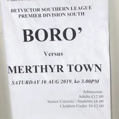 Harrow Borough v Merthyr Town 10/8/19
