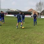 Boys in blue wsrming up