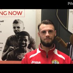 28-10-17 - Grantham Town v Halesowen Town - post match interview with Curtis Burrows