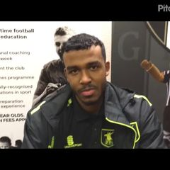 13-1-2018 - Grantham Town v Farsley Celtic - post match interview with Zane Hakeem